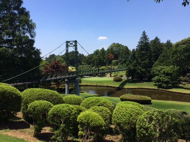 中山カントリークラブの吊り橋