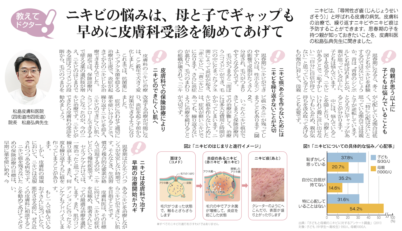 リビング新聞 ニキビ記事2019-08
