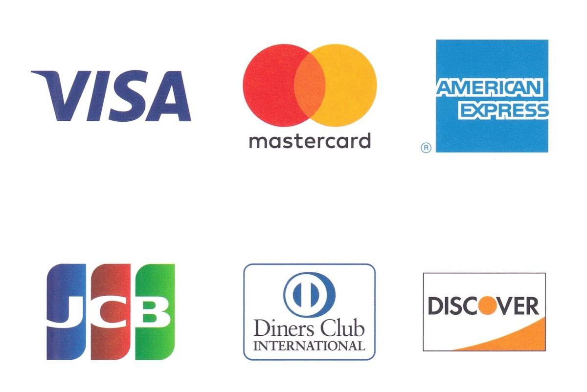 取り扱い可能なクレジットカード